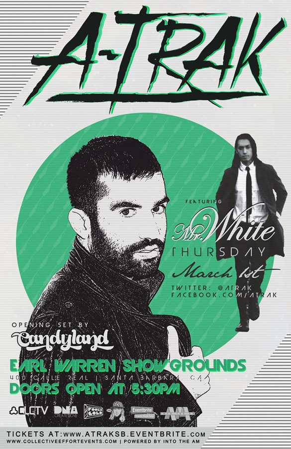 GIVEAWAY: A-Trak, Candyland, Mr. White @ Santa Barbara – 3/2/12